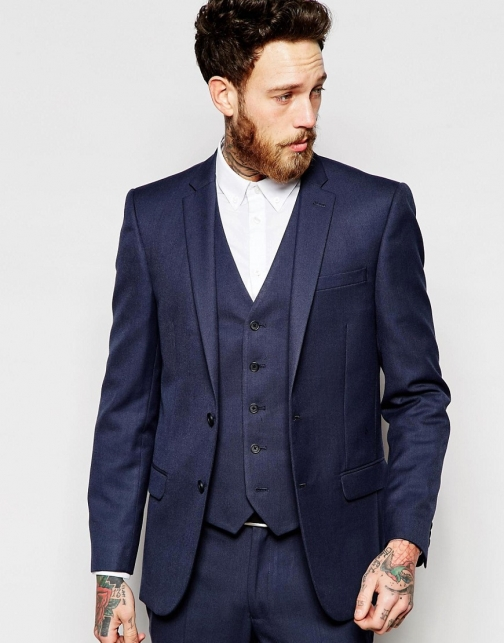 New Look Navy Suit Jacket