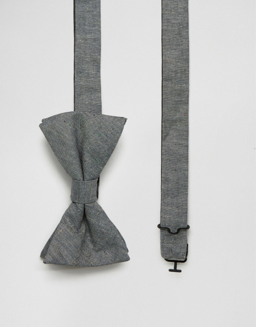 Original Penguin Grey Chambray Bow Tie