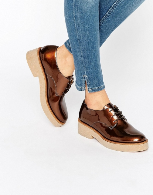 Asos MINORITY Lace Up Flat Shoes