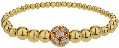 Mikey Large Crystals Ball Metal Chain Bracelet