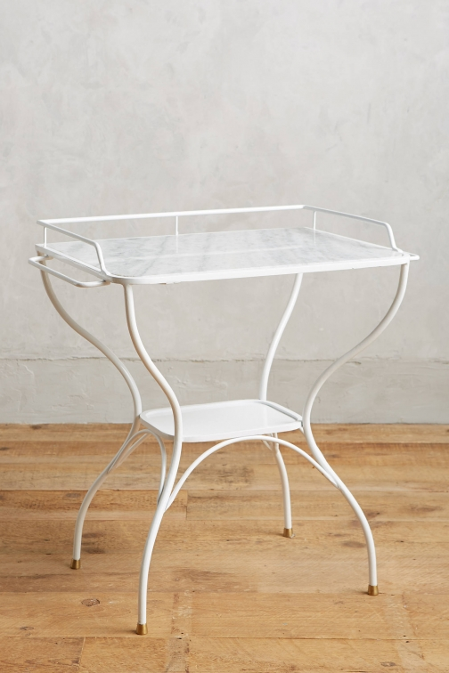 Anthropologie Marble-Topped Bar Table Accessorie