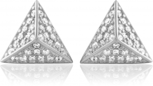 House Of Fraser LaBante Sterling Silver Pyramid Stud Earring