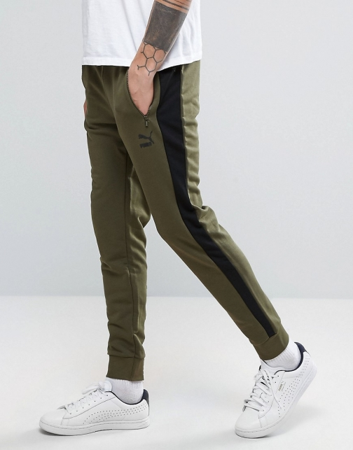 Puma Tapered Joggers Green Trouser
