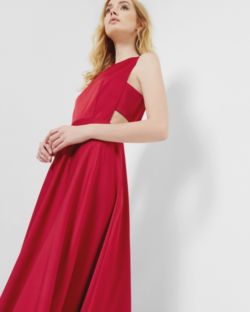 Ted Baker Cut-out Bright Red Maxi Dress