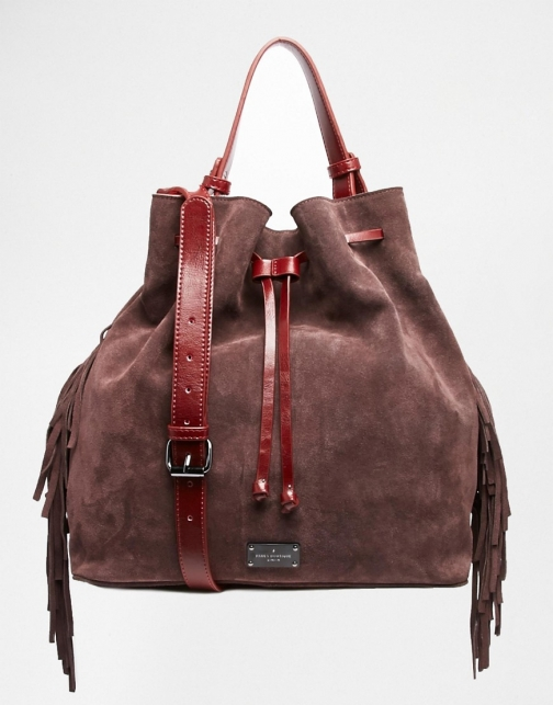 Paul's Boutique Cora Leather And Suede Bucket Bag