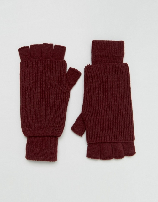 Asos Fingerless Burgundy Glove