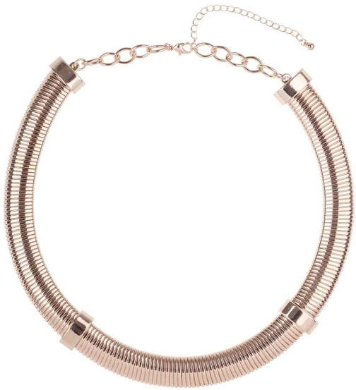 Dorothy Perkins Womens Rose Gold Tube - Rose Gold Collar