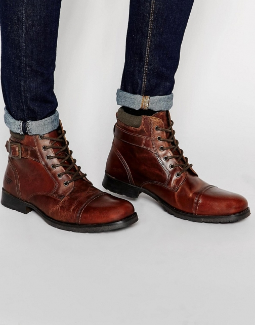 Red Tape Lace Up Boot