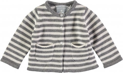 House Of Fraser Rockin' Baby Boys Grey Stripe Cardigan