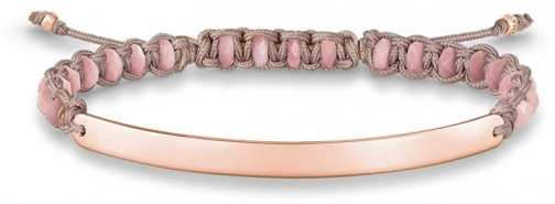 Thomas Sabo Rose Macramé Love Bridge Bracelet