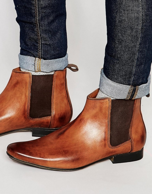 Frank Wright Chelsea Tan Leather Boot