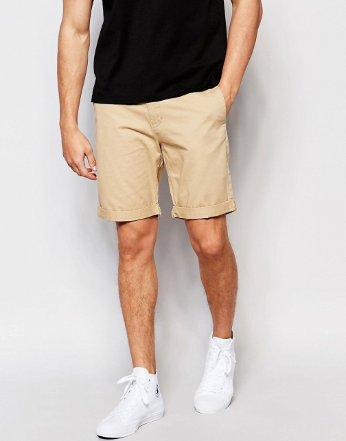 Weekday Acid Slim Chino Beige Short