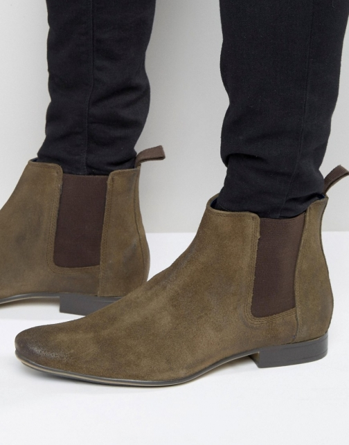 Frank Wright Chelsea Brown Leather Boot