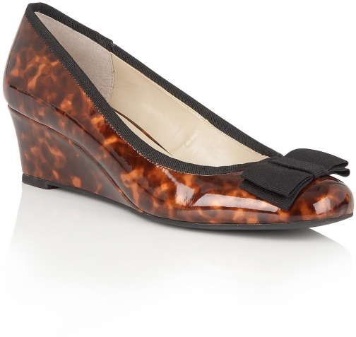 Lotus Rea Shiny Tortoiseshell Wedge