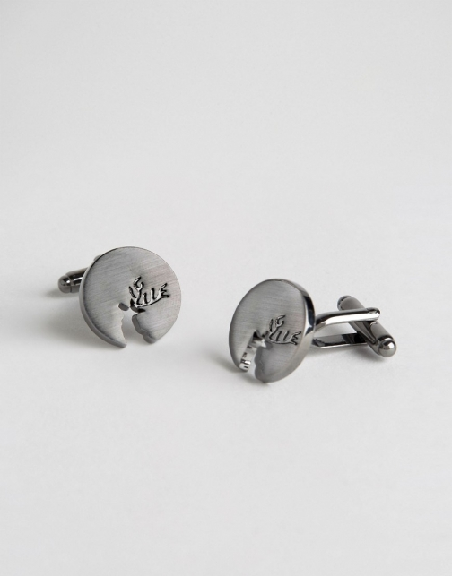 Asos Christmas With Stag Cufflink