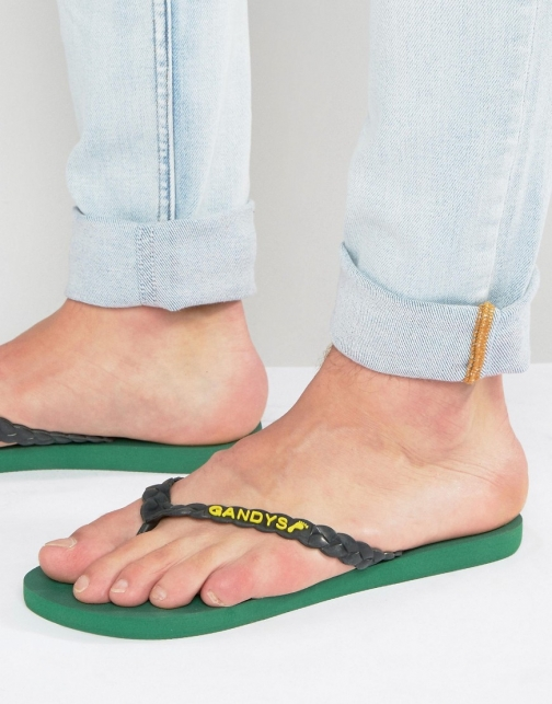 Gandys Rainforest Green Flip Flop