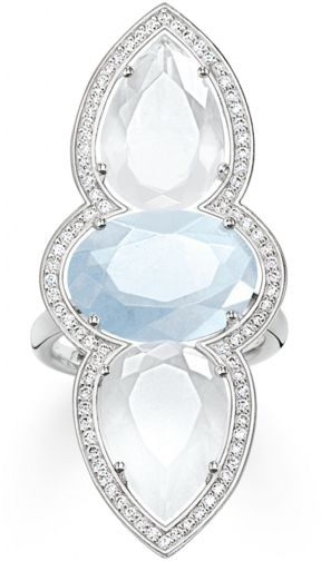 Thomas Sabo Maharani Triple Milky Aqua & Quartz Ring