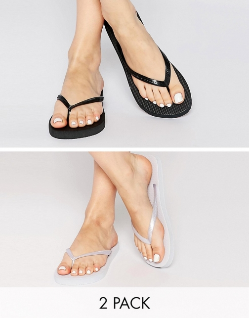 Asos FRIENDLY Two Pack Flip Flop