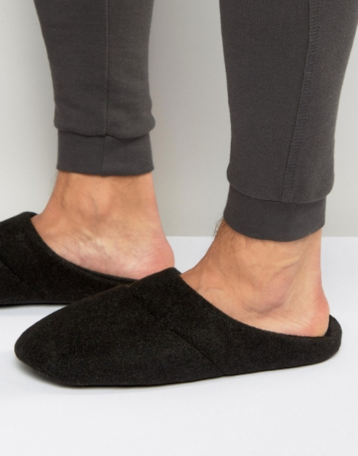Asos Slip On Black Marl Slipper