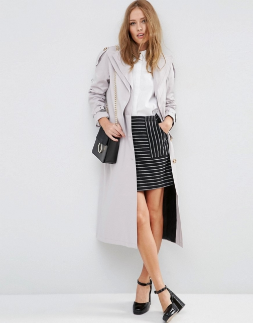 Asos Mac With Double Premium Quality Collar