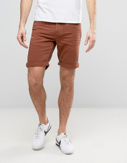Jack & Jones Washed Rust Denim Short
