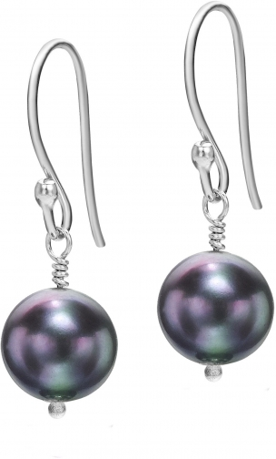 House Of Fraser Dower And Hall Silver Peacock Pearl Drop Earring