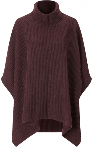 Jigsaw Roll Neck Ribbed Poncho
