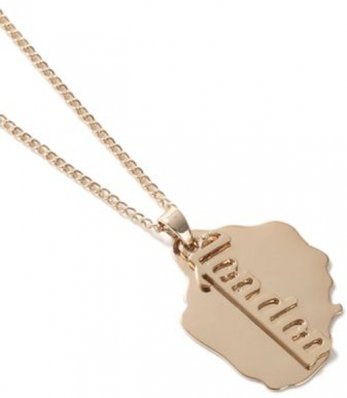 Topman Mens Gold Look London Tag *, GOLD Necklace