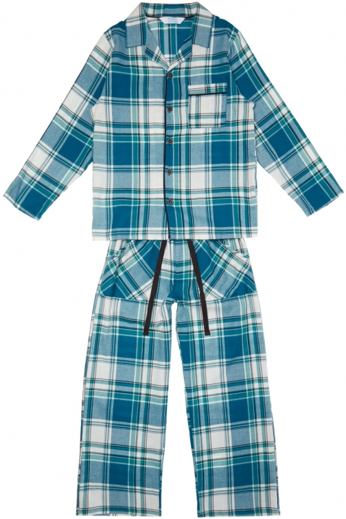 House Of Fraser Minijammies Boys Checked Cotton Pyjama