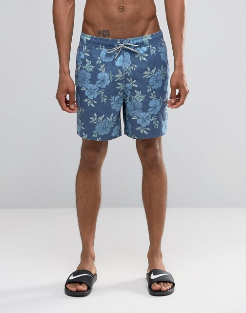 Asos Hollister Floral Swim Short