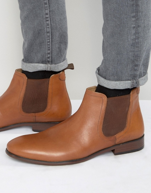 Red Tape Chelsea Tan Leather Boot
