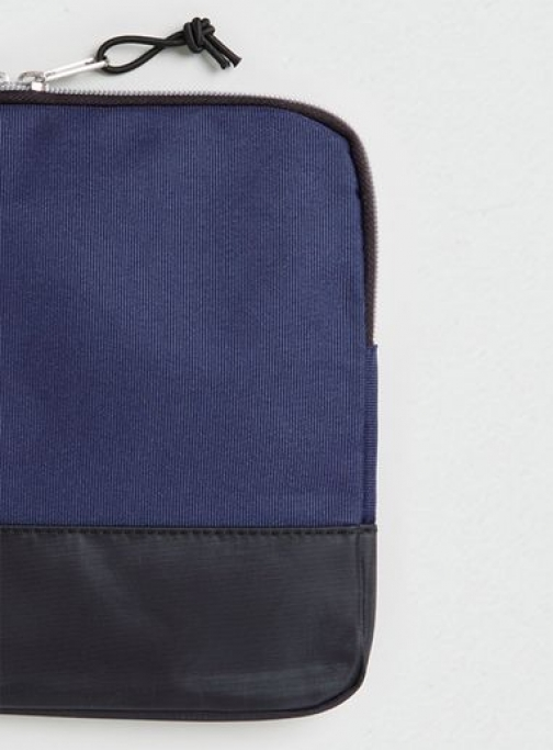 Topman Mens Blue Navy Nylon Ipad , Blue Case