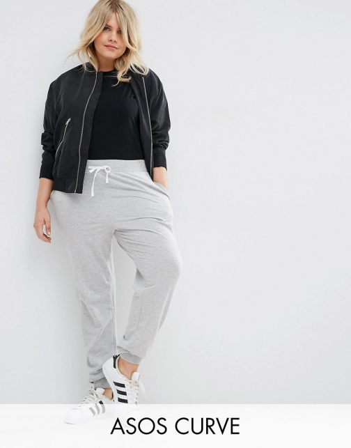 Asos Curve CURVE Track Pant With Contrast Tie
