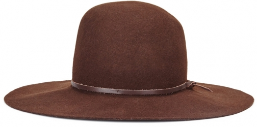 Jigsaw Hazel Leather Trim Round Hat