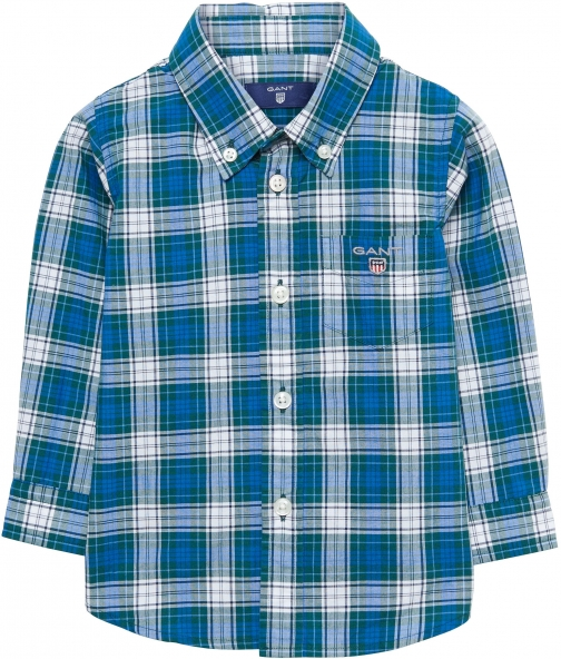 Gant Boys Broadcloth Plaid Shirt