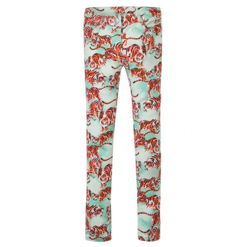 Kenzo Girls Green `Jungle` Theme Jeans