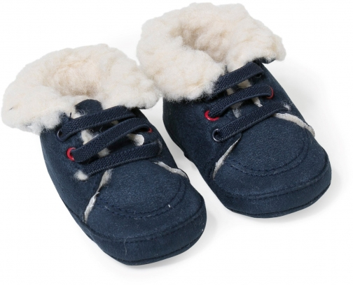 Absorba Baby Boys Faux-Fur Lined Slipper