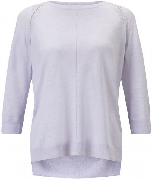 Jigsaw Cotton Slub 3/4 Sleeve Sweater Sweatshirt