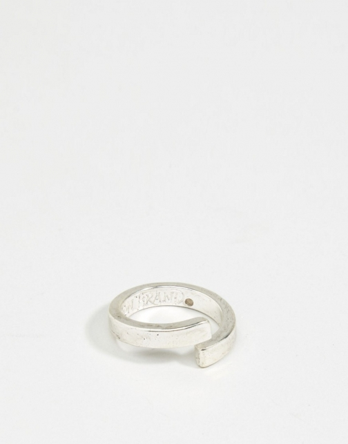 Icon Brand Wrap Silver Ring