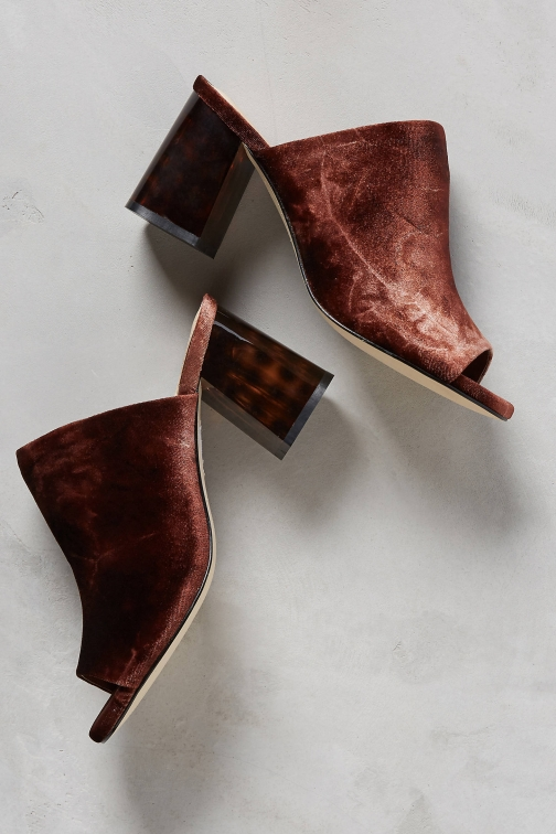Anthropologie Kerryn Velvet Mules