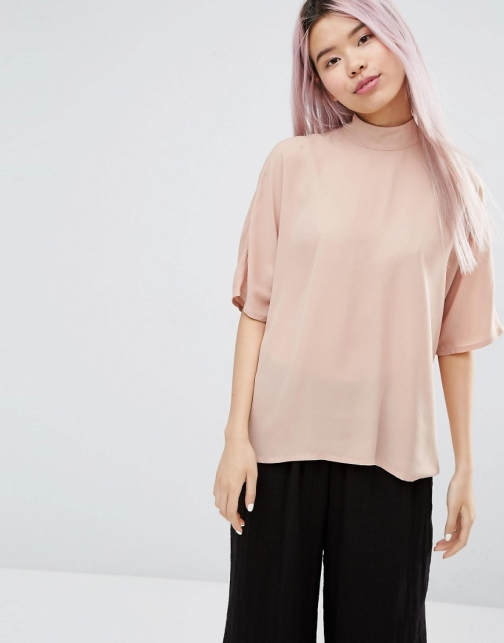 Monki Zip Back Blouse
