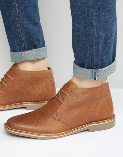 Red Tape Desert Tan Leather Boot
