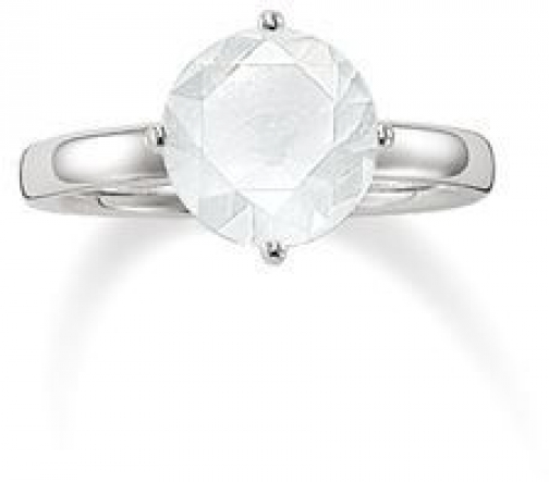 Thomas Sabo Glam & Soul Milky Quartz Solitaire Ring