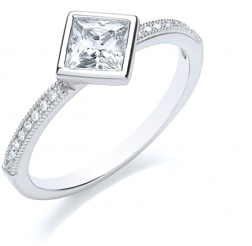 Bouton Stacker Princess Ring