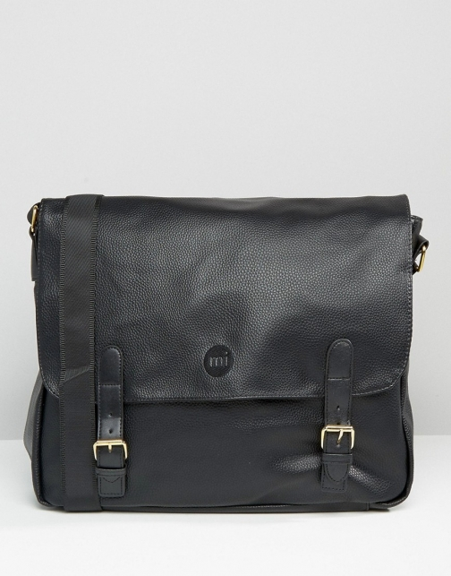 Mi-pac Tumbled Leather Look Satchel