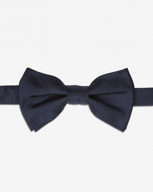 Ted Baker Textured Silk Navy Bow Tie