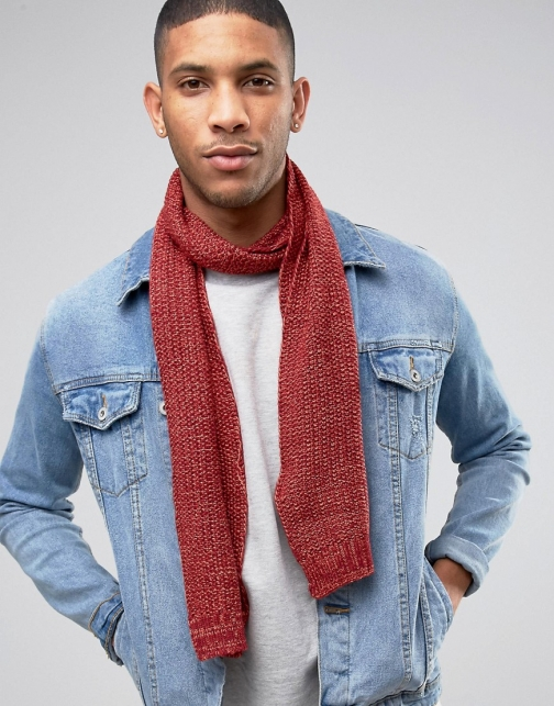 Asos Hollister Check Red Scarf
