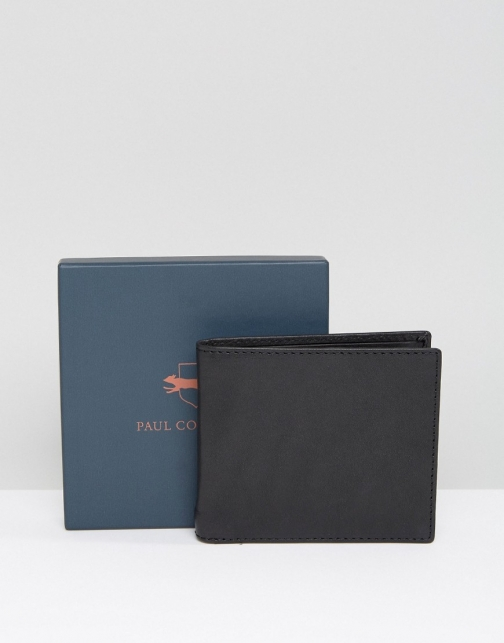 Paul Costelloe Leather Billfold Classic Black Wallet