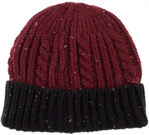 Dents Mens Donegal Cable Knit Hat