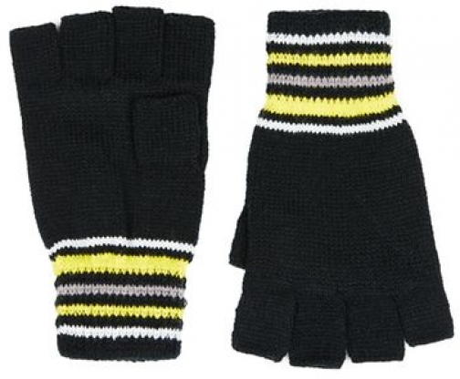 Topman Mens Multi Blue Stripe Fingerless , Multi Glove